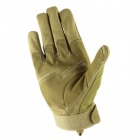 Fashionable Outdoor Cycling Full-finger Motorcycle Gloves - Khaki (Pair / Size L)