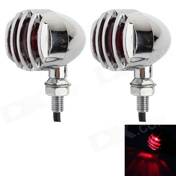 MZ 5W 80LM Halogen Motorcycle Steering Light / Brake Light - Silver