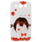 Kinston Little Girl Pattern Plastic Back Case for Samsung Galaxy S3 I9300 - Red + Multi-Color