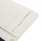 Kinston Lambskin + Plastic Flip Open Case w/ Card Slot / Stand / Auto-Sleep for IPHONE 5 / 5S