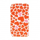 "Kinston Hearts Patterned Flip-Open Case w/ Stand + Card Slot for Nokia Lumia 520 4.3"" - Red + White"