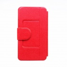 "Kinston Stylish Flip-Open PU + Plastic Case w/ Stand + Card Slot for Nokia Lumia 520 4.3"" - Red"