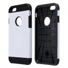 "Armor Style Protective PC + Silicone Back Case for IPHONE 6 4.7"" - White"