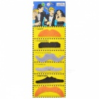 Costume Party Cosplay Artificial Funny Self-adhesive Mustache Set - Black (6 PCS)