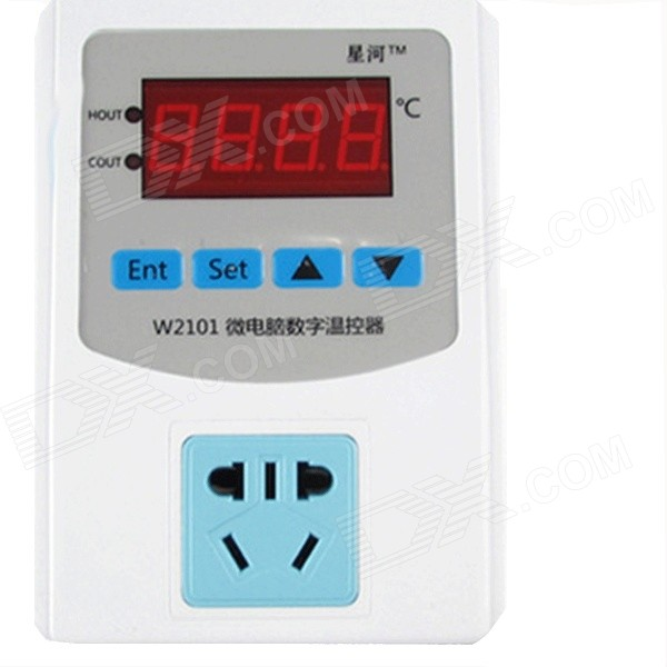 HF 0.56 LCD Digital Thermostat Temperature Controller - White + Black (220V /2200W) zhongshan juchuang jcw 823 electronic thermostat temperature controller digital temperature controller