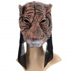 Funny Tiger Style Plastic Face Mask for Halloween / Cosplay - Black + Coffee