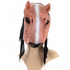 Funny Horse Style Plastic Face Mask for Halloween / Cosplay - Black + Coffee + Multi-Color