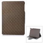 "Retro Maze Patterned Flip-Open PU + PC Case w/ Stand + Card Slot for 8"" IPAD MINI 2 - Brownish Black"
