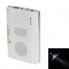 Portable Universal 6000mAh Li-po Power Bank & Bluetooth Speaker w/ Micro USB Cable - White