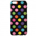 "Polka Dot Pattern Protective Silicone Back Case for IPHONE 6 4.7"" - Black + Multicolored"