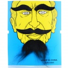 Costume Party Cosplay Artificial Funny Self-adhesive Eyebrows + Mustache Set - Black