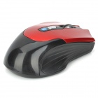 Bluetooth v3.0 Wireless 800-1600dpi Optical Mouse w/ 2-Side Buttons - Red + Black (2 x AAA)