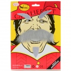 Halloween Costume Party Cosplay Funny Self-adhesive Eyebrows + Mustache Set - Grey