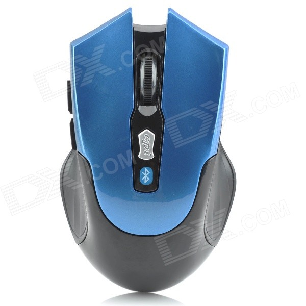 Bluetooth v3.0 Wireless 800-1600dpi Optical Mouse w/ 2-Side Buttons - Blue + Black (2 x AAA) zuntuo zt 302 heise 2 4ghz 800 1200 1600 2000dpi wireless optical mouse black blue