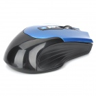 Bluetooth v3.0 Wireless Optical Mouse 800-1600dpi w / 2-botones laterales - Azul + Negro (2 x AAA)