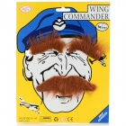 Costume Party Cosplay Artificial Funny Self-adhesive Eyebrows + Mustache Set - Coffee Golden