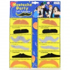 Costume Party Cosplay Artificial engraçado auto-adesivo Bigode Set - Black + Grey (12 PCS)