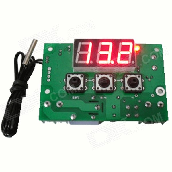 HF 0.56 LCD Digital Thermostat Temperature Controller - Green (24V)DIY Parts &amp; Components<br>Form  ColorGreenBrandN/AModelN/AQuantity1 DX.PCM.Model.AttributeModel.UnitMaterialPlastic + ironScreen Size0.56 DX.PCM.Model.AttributeModel.UnitCelsius Range-50~110 ?CFahrenheit Range-50~110 DX.PCM.Model.AttributeModel.UnitBacklightRedAuto Power OffNoBattery included or notNoPacking List1 x Thermostat1 x Cable (50cm)<br>