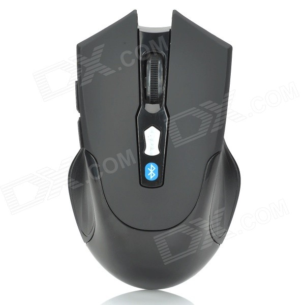 V3.0 Bluetooth sem fio 800-1600dpi Optical Mouse w / botões 2-Side - Black (2 x AAA)