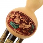 HLS-002 Chinese Style C-Tone Cucurbit Flute - Brown + Wood Color
