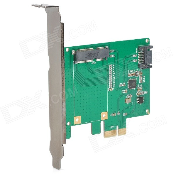 MAIWO KCSSD1 PCI-E PCI-Express to 6.0 Gbps SATA/ mSATA 3 Hybrid Raid Adapter Converter Card - Green mosunx advanced for sata power cable 15 pin to 6 pci express pci e graphics converter adapter video card 1pc