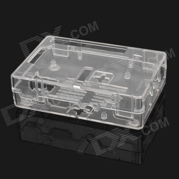 Waveshare G Type Acrylic Case for Raspberry Pi Model B+ - Transparent tengying l298n motor driver board for raspberry pi red