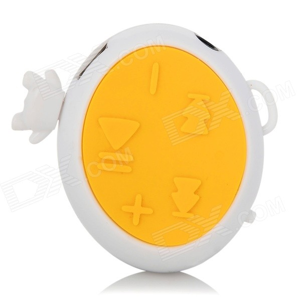 Robot Style MP3 Player w/ TF Slot / Mini USB - White + Yellow