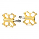 AEST YRPD-07T Lightweight Aluminum Magnesium Alloy Bicycle Bike Pedals - Golden (Pair)