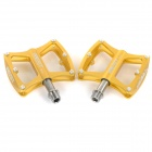 AEST YMPD-09T Lightweight Aluminum Magnesium Alloy Bicycle Bike Pedals - Gold (Pair)