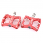 AEST YMPD-09T Lightweight Aluminum Magnesium Alloy Bicycle Bike Pedals - Red (Pair)
