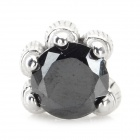 Dragon Claw Style 925 Sterling Silver Stud Earring for Men - Black + Silver