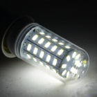 E27 8W 750lm 6500K 48-SMD 5730 LED White Corn Lamp - White + Silvery Grey (AC 220~240V)