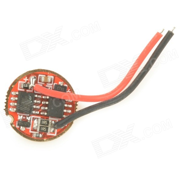 1.0A 5-Mode Dual IC Memory LED Driver Circuit Board for Flashlight - Red