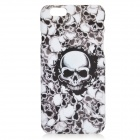 "PC0906 Skulls Pattern Protective PC Back Case for IPHONE 6 4.7"" - White + Black"