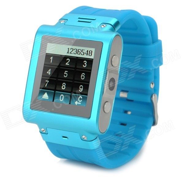 W838 Waterproof Quad-Band GSM Watch Phone w/ 1.5