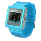"W838 Waterproof Quad-Band GSM Watch Phone w/ 1.5"" Screen, 128MB RAM, 2GB ROM - Blue + Silver"