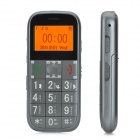 "Anti-Slip 1.7"" Screen GSM Bar Phone w/ GPS & SOS Function for Elderly - Grey"