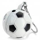 Football Style Zinc Alloy Butane Lighter w/ Keychain - White + Black