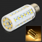 JRLED E27 9W 600lm 3200K 50-SMD 5730 LED Warm White Corn Lamp - White (AC 220~240V)