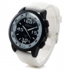 XINKAI Fashion Silicone Band Analog Quartz Wrist Watch - White + Black (1 x 377)