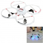 RUNQIA 2.4GHz 4-CH Outdoor 6-as R / C Quadcopter w / Lamp / gyroscoop - Wit (6 x AA)