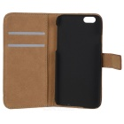 "WB-0916 Protective Leather Flip-Open Case w/ Card Slot / Stand for IPHONE 6 4.7"" - Brown"