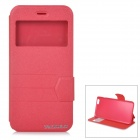 "DULISIMAI Matte Flip-Open PU + TPU Case w/ Stand + View Window for IPHONE 6 PLUS 5.5"" - Red"