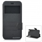 "DULISIMAI Matte Flip-Open PU + TPU Case w/ Stand + View Window for IPHONE 6 PLUS 5.5"" - Black"