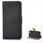 "WB-0916 Protective Leather Flip-Open Case w/ Card Slot / Stand for IPHONE 6 4.7"" - Black"