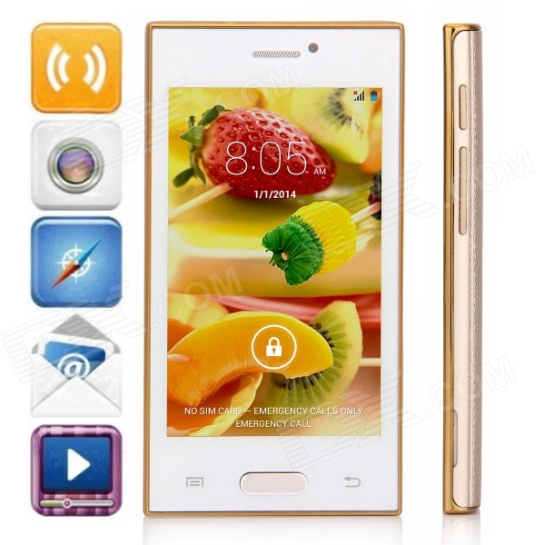 Z9005+ MTK6572 Dual-Core Android 4.4.2 WCDMA Bar Phone w/ 4.0