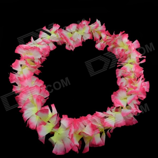 Decoration Flowers Head / Neck Wreath - Pink + White + Yellow