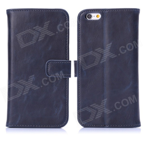 Hat-Prince Protective PU Leather + Plastic Flip Open Case w/ Stand / Card Slots for IPHONE 6 4.7""