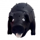 Screaming Sound Pig Style Decompression Stress Release Vent Toy - Black