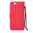 "ENKAY Protective PU Leather Flip Open Case w/ Stand / Card Slots / Strap for IPHONE 6 4.7"" - Red"